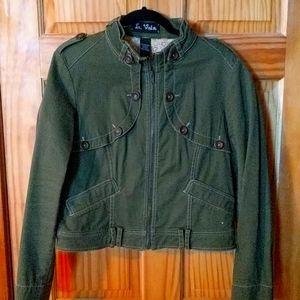 Green short military style jacket Le Vain